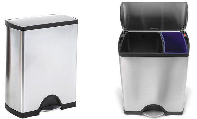 SimpleHuman Recycler Tretmülleimer mit 46 Liter Volumen für 117,90€ (statt 272€)