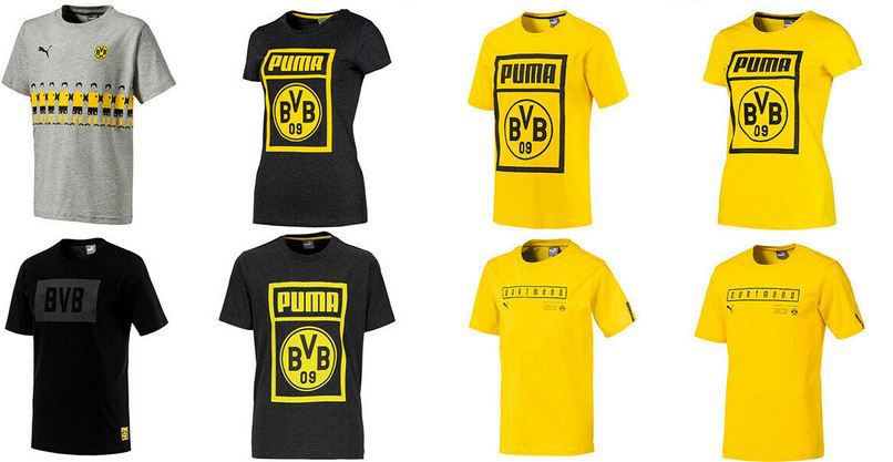 Puma BVB Borussia Shirts für Damen, Herren & Kinder für 14,95€ (statt 20€)
