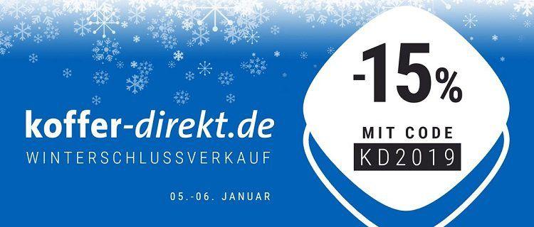 15% Gutschein für Koffer direkt + VSK frei ab 20€   viele Schnäppchen möglich   bis Mitternacht!