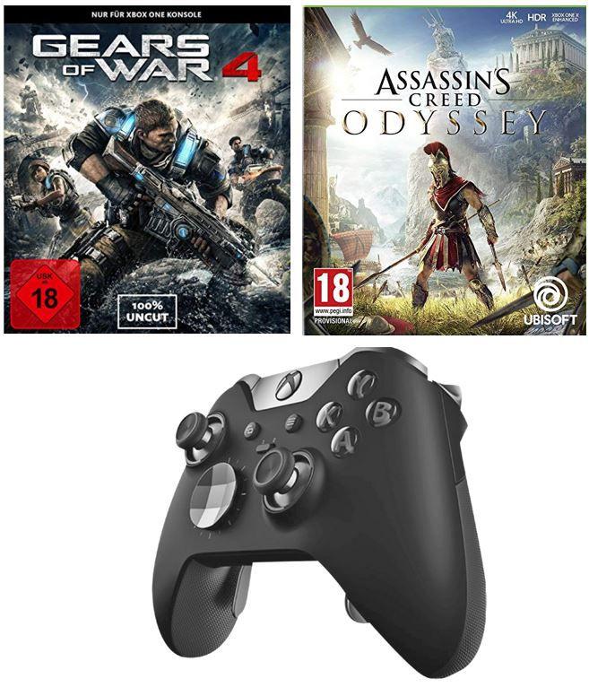 Xbox One Elite Wireless Controller + Games: Assassins Creed Odyssey + Gears of War 4 für 130,99€ (statt 165€)