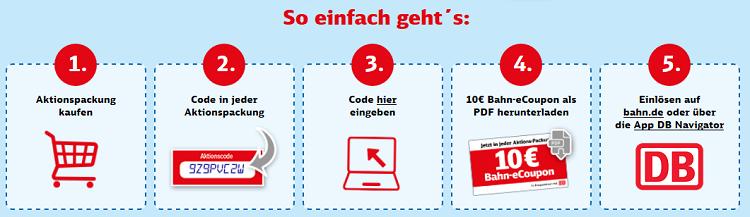 10€ Bahn eCoupon in Ferrero Aktionspackungen