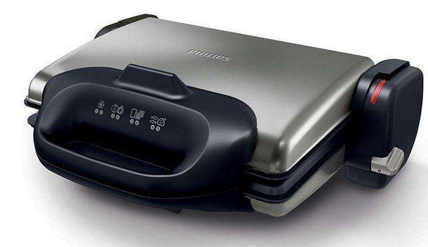 Philips HD4468/90 Kontaktgrill mit austauschbaren Waffelplatten für 62,99€ (statt 111€)