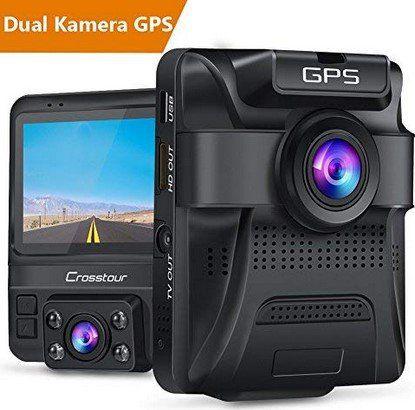 Crosstour ZG CR750   1080p Dashcam mit 2 Cams & GPS für 54,99€ (statt 100€)