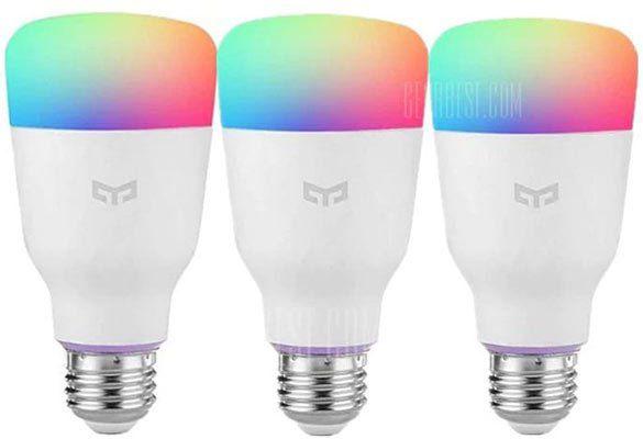 3er Pack: Yeelight LED Leuchte (2. Version) 10W mit RGB E27 für 47,79€   aus EU