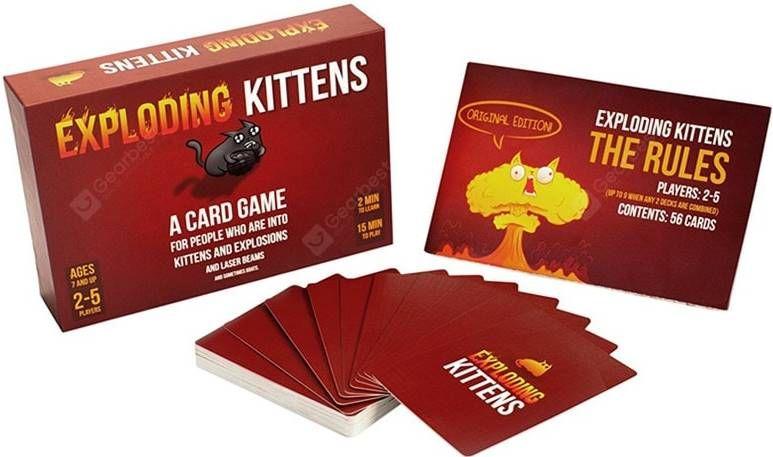 Exploding Kittens   Kartenspiel für 6,30€