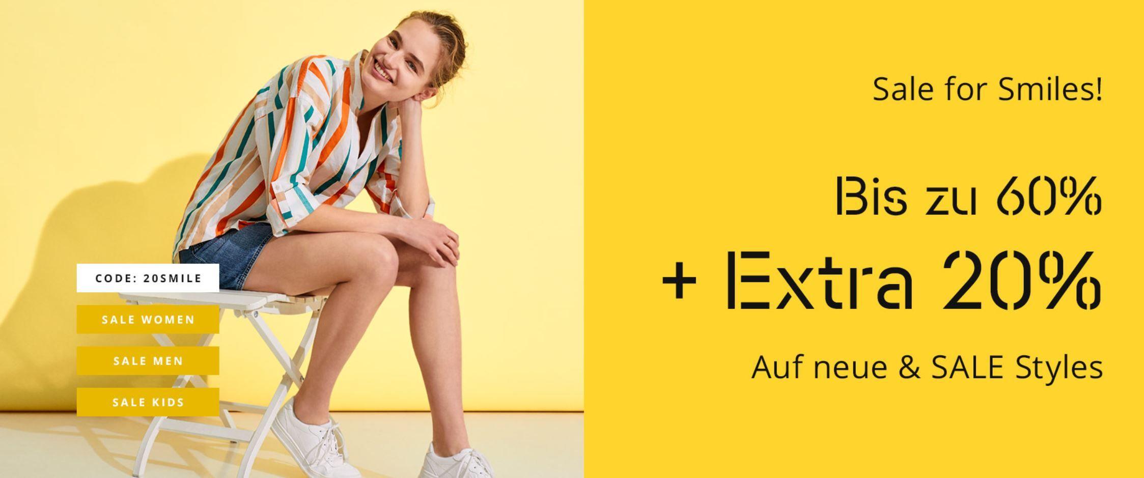 Esprit Sale bis 60% + 20% extra Rabatt + VSK nur 0,99€