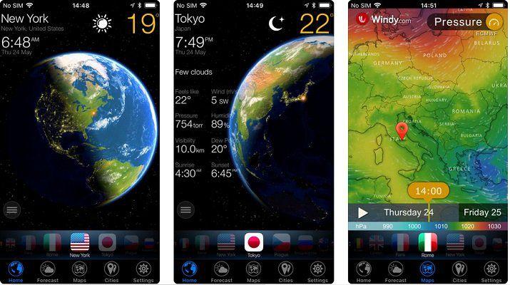 Vorbei! 3D Earth   Wetter Widget (iOS) kostenlos (statt 4,99€)