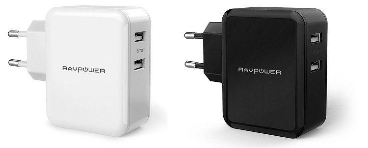 RAVPower RP PC001   USB Ladegerät mit 2 USB Ports für 7,99€ (statt 12€)