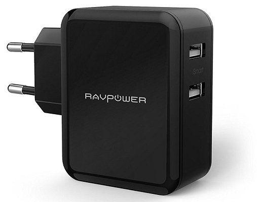 RAVPower RP PC001   USB Ladegerät mit 2 USB Ports für 9,49€ (statt 12€)