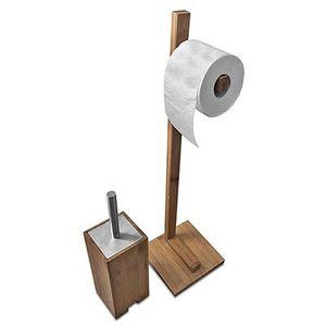 Sanwood WC Garnitur aus Bambusholz & Edelstahl für 14,99€ (statt 25€)