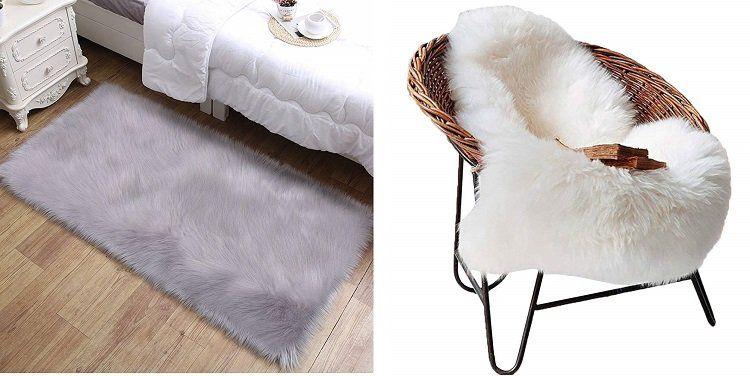 Aicehome Lammfellimitat (60 x 90 cm) als Teppich oder als Unterlage für 12,99€ (statt 26€)
