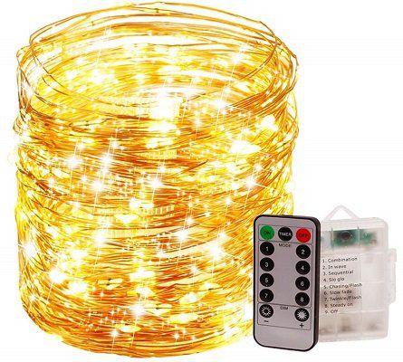 Qelon LED Lichterkette mit 200 LEDs für 8,99€ (statt 18€)