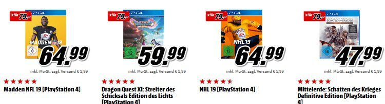 Play Station 4 Controller + Fallout 76 + Battlefield V + Just Cause 4 ab 134€ (statt 156€)