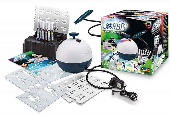 ORBIS 30020 Airbrush Power Studio Airbrush in Schwarz/Weiß für 45€ (statt 55€)