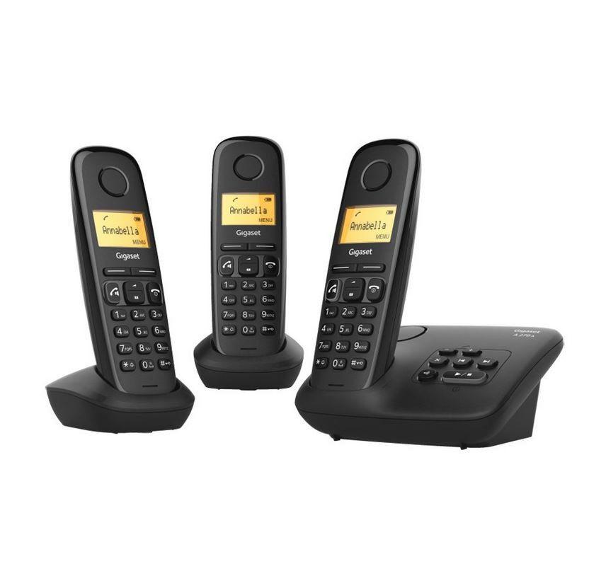 GIGASET A270A Trio DECT Schnurlos Telefone mit AB für 30€ (statt 51€)