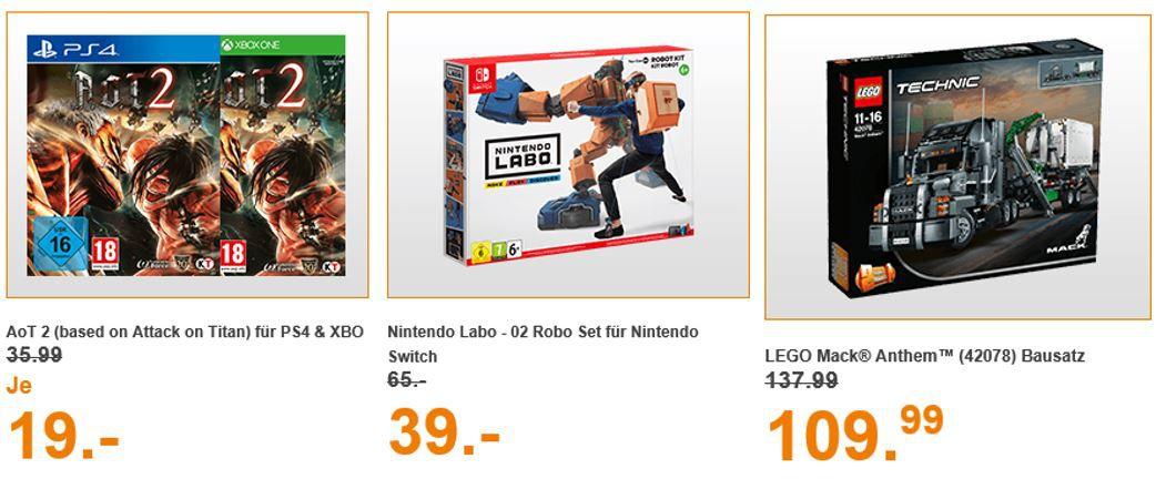 Saturn Entertainment Weekend Deals: z.B. AoT 2 (based on Attack on Titan)  Xbox One Game für 19€ (statt 32€)