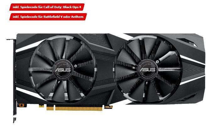 Top! ASUS GeForce RTX 2070 8GB NVIDIA Grafikkarte + Spielecode für Call of Duty: Black Ops 4 + Battlefield V für 499€ (statt 631€)