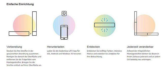 LIFX L3BEAMKITIN Beam Stimmungslicht, kompatibel mit: Amazon Alexa, WLAN, Nest, HomeKit ab 120€ (statt 170€)