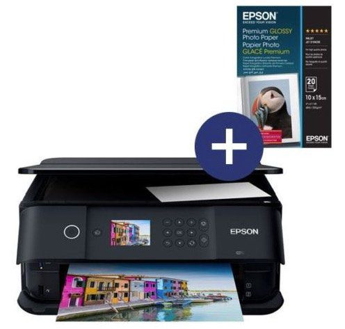 Epson Expression Premium XP 6000 Multifunktionsdrucker + Glossy Photo Papier für 69,90€