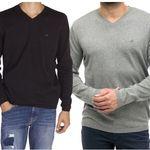 Mustang klassischer Herren Sweater mit V-Neck für 19,99€ (statt 30€)
