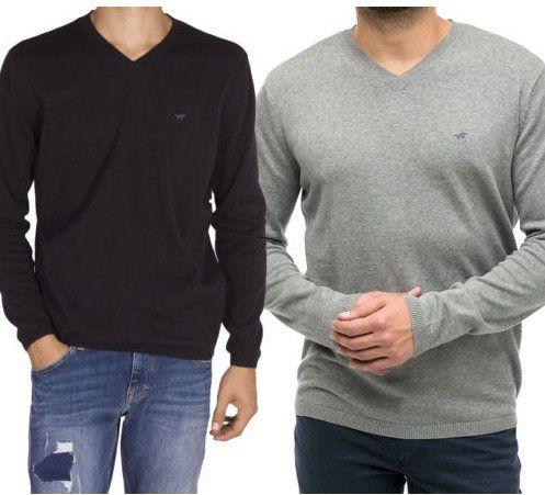 Mustang klassischer Herren Sweater mit V Neck für 19,99€ (statt 30€)