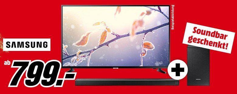Media Markt Super Coupons   z.B. Samsung Fernseher ab 799€ kaufen + Samsung HW N450 im Wert von 221€ gratis dazu