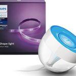 Philips Hue Iris + 2 Meter Hue White & Color Lightstrip für 84,99€ (statt 137€)