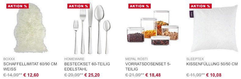 Nur heute! XXXLutz mit 30€ Rabatt auf Haushaltswaren & Accessoires ab 100€ MBW