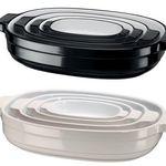 4er Set KitchenAid Auflaufformen aus Keramik in Schwarz oder Creme für je 58,90€ (statt 100€)