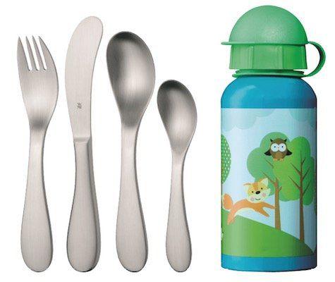 WMF Knuddel Kinderbesteck Set mit Trinkflasche für nur 9€ (statt 16€)
