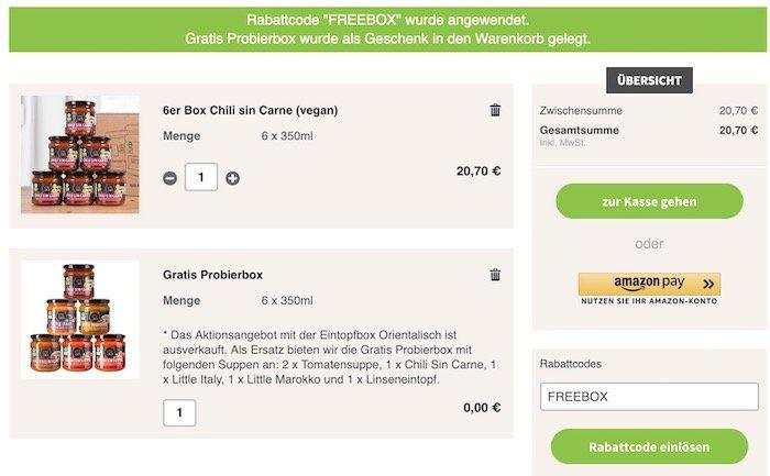 Little Lunch: gratis 6er Probierbox für alle Bestellungen ab 15€