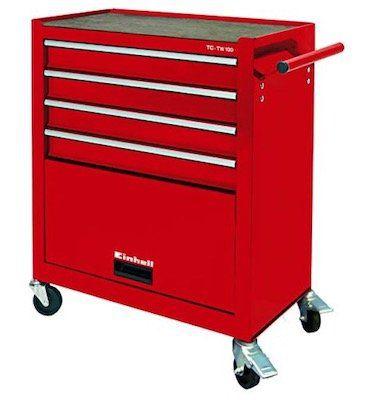 Einhell TC TW 100 Werkstattwagen mit 4 Schubladen für 69,99€ (statt 93€)