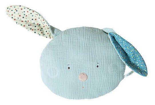 Ausverkauft! Moulin Roty Hasen Kissen aus 100% Baumwolle mit Polyester Füllung für 12,50€ (statt 23€)