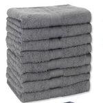 8er Set Frottee Handtücher (50 x 100cm) mit 500g/m² aus 100% Baumwolle für 26,95€
