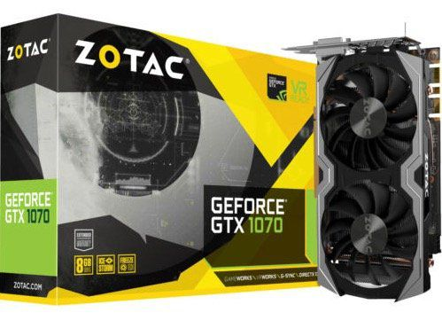 ZOTAC GeForce GTX 1070 Mini 8GB Grafikkarte ab 259€ (statt 341€)