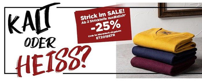 25% Rabatt auf eterna Strick Fashion ab 2 Teile
