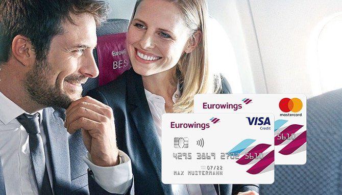 Barclaycard Visa von Eurowings 1 Jahr kostenlos + 50€ Guthaben + 5.000 Meilen + 1 Meile pro 1€ Umsatz