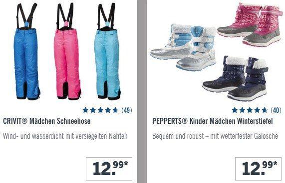 LIDL: Kinder Schneekleidung im Sale   z.B. Schneehose nur 12,99€ oder Schneejacke nur 14,99€