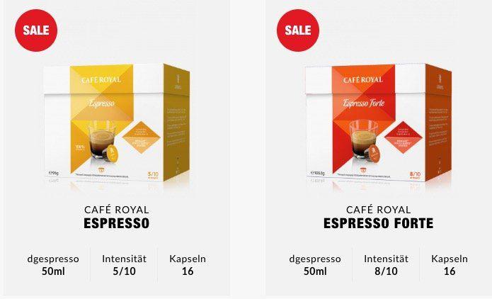 368 Cafe Royal Kapseln (für Dolce Gusto) für 52,30€ + 2 gratis Gläser   nur 0,14€ pro Portion!