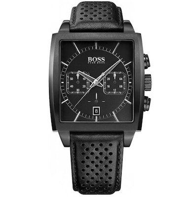 Hugo Boss HB 1005   Uhr aus Edelstahl mit Lederarmband für 229€(statt 258€)