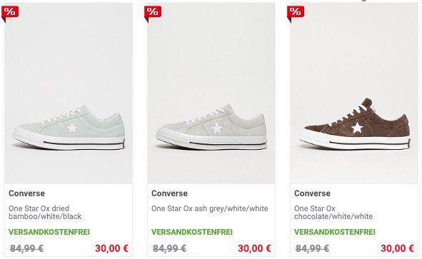 Converse One Star Ox Lowcut Sneaker für nur 30€   teilweise wenig Größen verfügbar