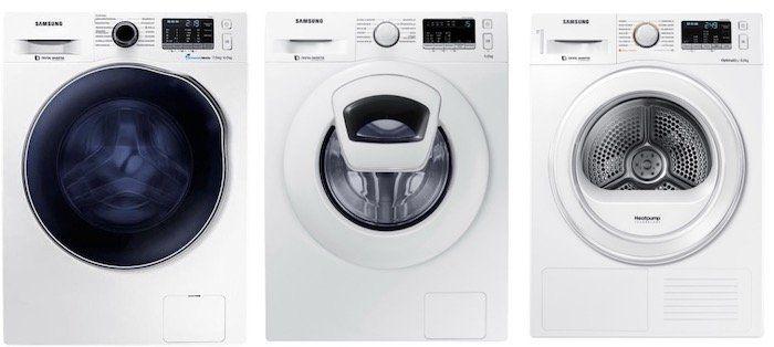 Samsung Wäschegeräte mit bis zu 200€ Sofort Rabatt bei AO   z.B. Samsung WD72J5A00AW Waschtrockner für 499€ (statt 550€)