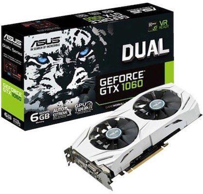 Asus GeForce GTX 1060 Grafikkarte mit 6GB für 211€ (statt 270€)