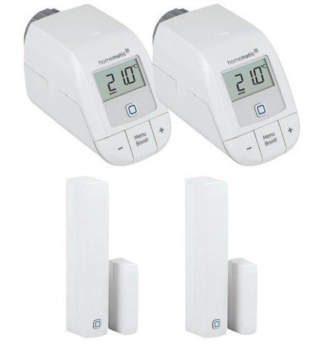 2er Set Homematic IP Thermostat + Fensterkontakt für 79,95€(statt 90€)