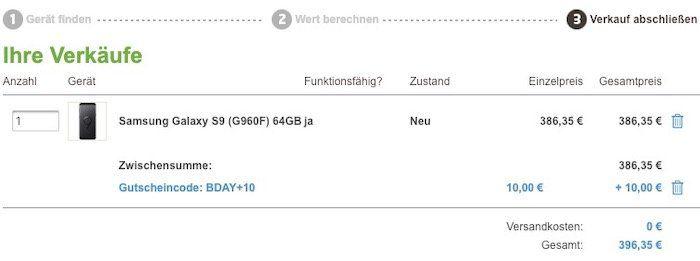 Samsung Galaxy S9 für 59€ + o2 Allnet Flat XL von Blau mit 5GB LTE für 19,99€ mtl.   keine Datenautomatik!
