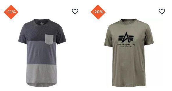 SportScheck mit 25% Rabatt auf Streetwear   z.B. Alpha Industries Basic T Shirt für 15,91€ (statt 20€)