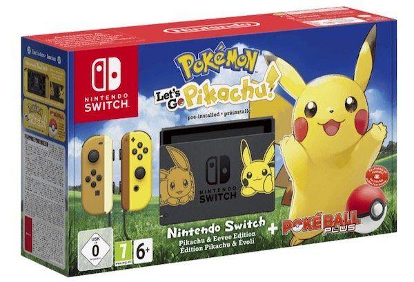 Nintendo Switch Pikachu Edition inkl. Pokéball Plus Controller für 278,10€ (statt 349€)