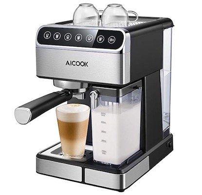 Aicook Espressomaschine mit Touch Digital Bildschirm für 96,43€ (statt 150€)
