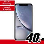 iPhone XR für 40€ + Vodafone Allnet-Flat mit 8GB für 31,99€ mtl.