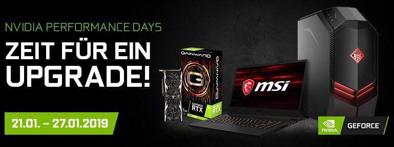Nvidia Performance Days bei Notebooksbilliger   z.B. Gainward GeForce GTX 1070 8GB für 297,99€ (statt 355€)